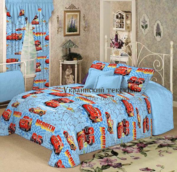 Комплект постельного белья подростковый   Тачки