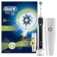 Зубная щетка электрическая Oral-B Pro 750 черный чехол