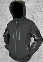 Куртка штормовая Soft Shell (черная)