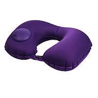 Подушка  надувная LSM для путешествий 40х28х8 сиреневая   (185-24)
