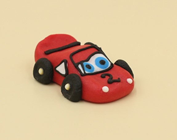 "Сахарная фигурка ""Машинка маленькая красная"""