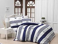 Постельное белье Beverly Hills Polo Club BHPC ранфорс 003 Dark blue Двуспальный евро комплект
