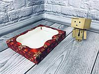 *10 шт* / Коробка для пряников / 150х200х30 мм / печать-Снег.Красн / окно-обычн / НГ, фото 1