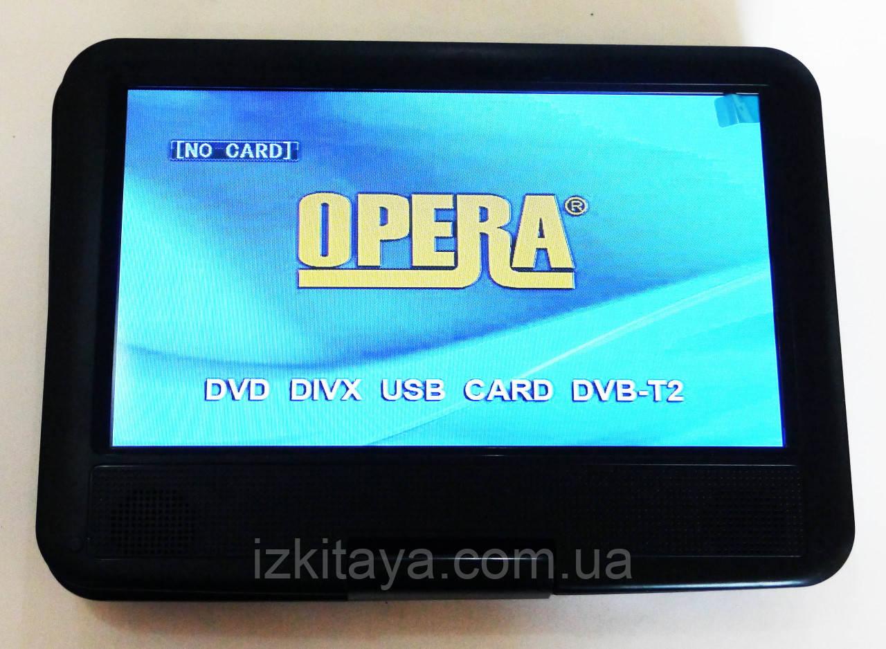 """Портативный ДВД со встроенным цифровым телевидением Т2 DVD плеер Opera NS-998 9,5"""" + много игр"""