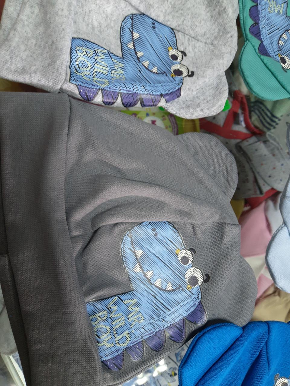 Шапка детская трикотажная Ушки для новорожденных р.38-42