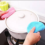 Губка Силікон для миття посуду, фото 3