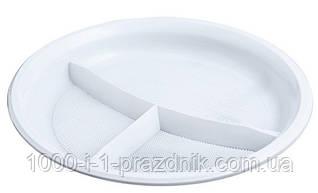 Пластиковая тарелка 205 мм с делениями 10 штук