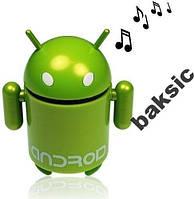 Портативная колонка в виде робота Android, USB,MP3