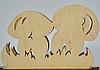 Декоративна підставка для серветок гриби