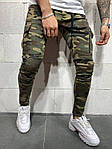 Мужские зауженные джинсы (камуфляж) - Турция, фото 3