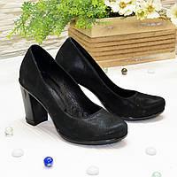 Женские черные туфли на каблуке. В наличии 36 размер