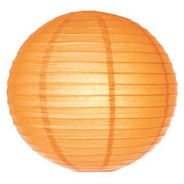 Шар плиссе 25 см оранжевый
