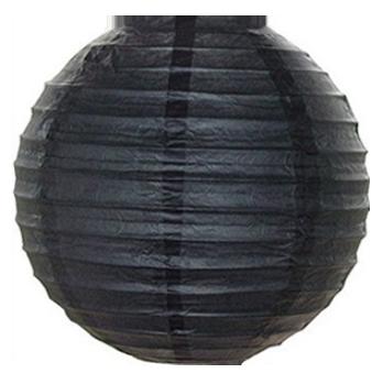 Бумажный декор на хеллоуин шар плиссе 25 см черный