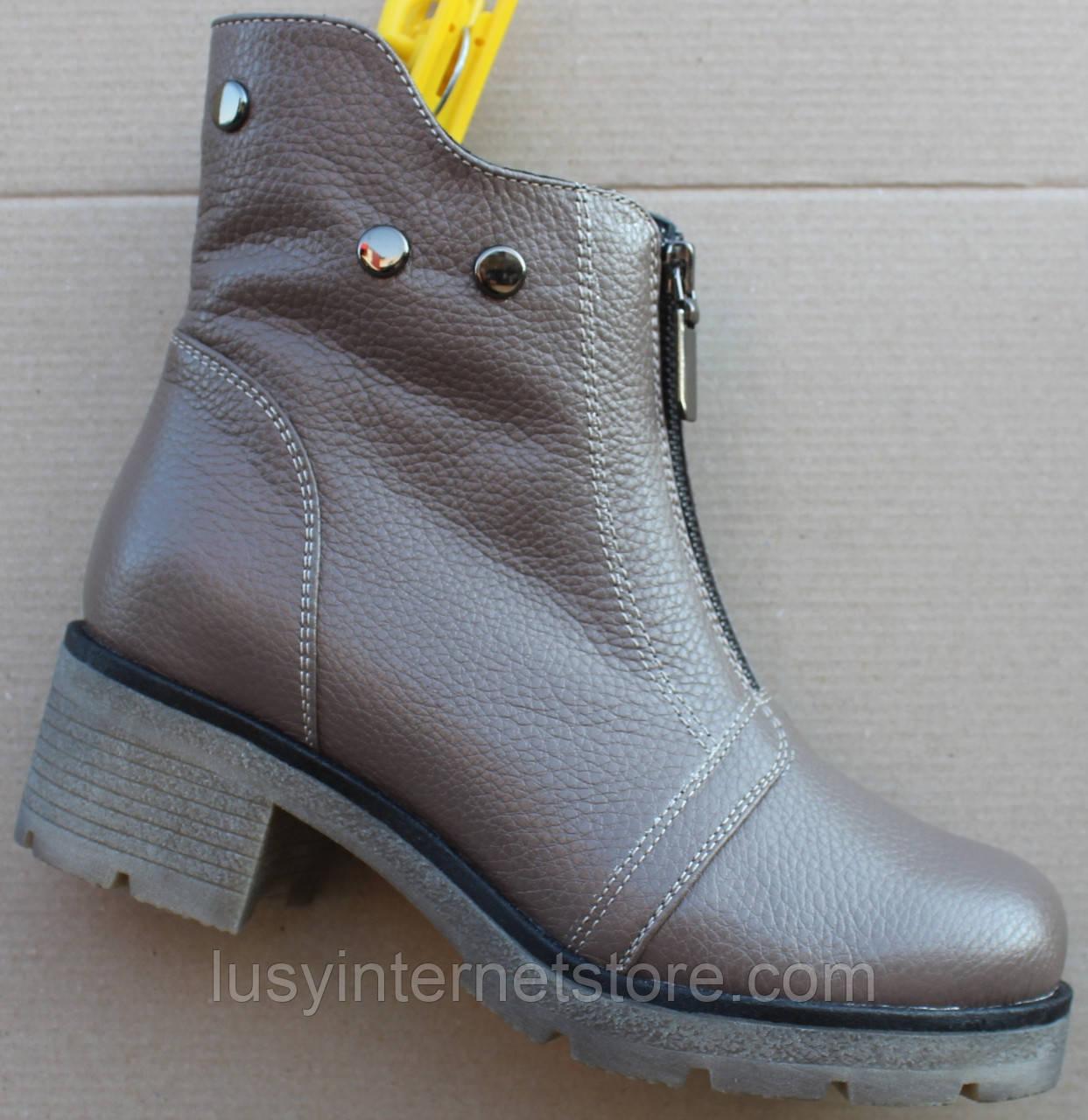 Ботинки женские зимние на каблуке от производителя модель Ф1934