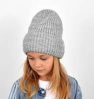 """Детская шапка """"Даша"""" серый, фото 1"""