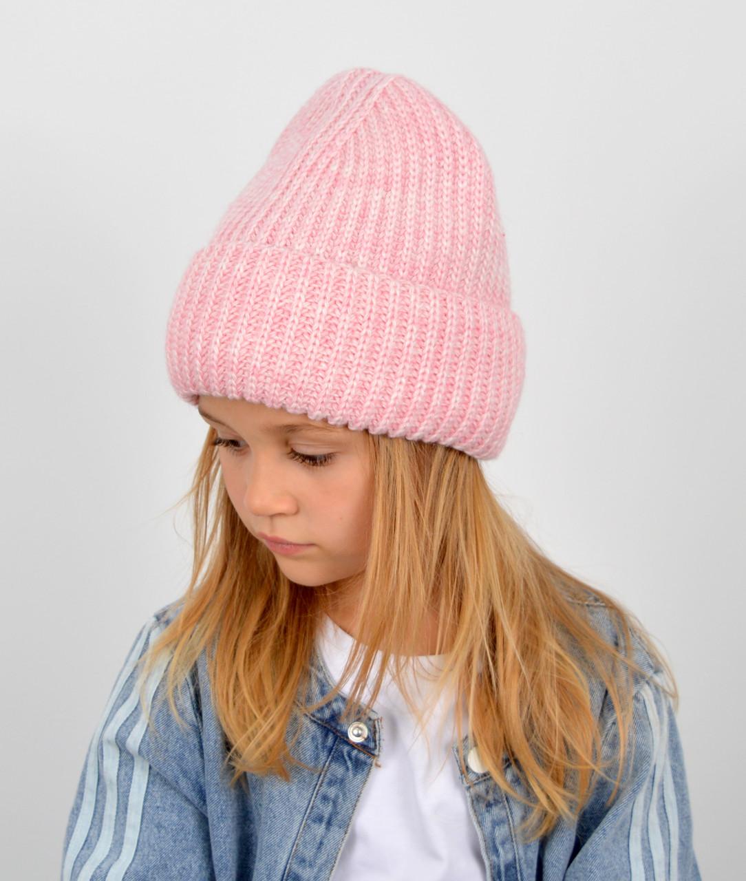 """Детская шапка """"Даша"""" розовый"""