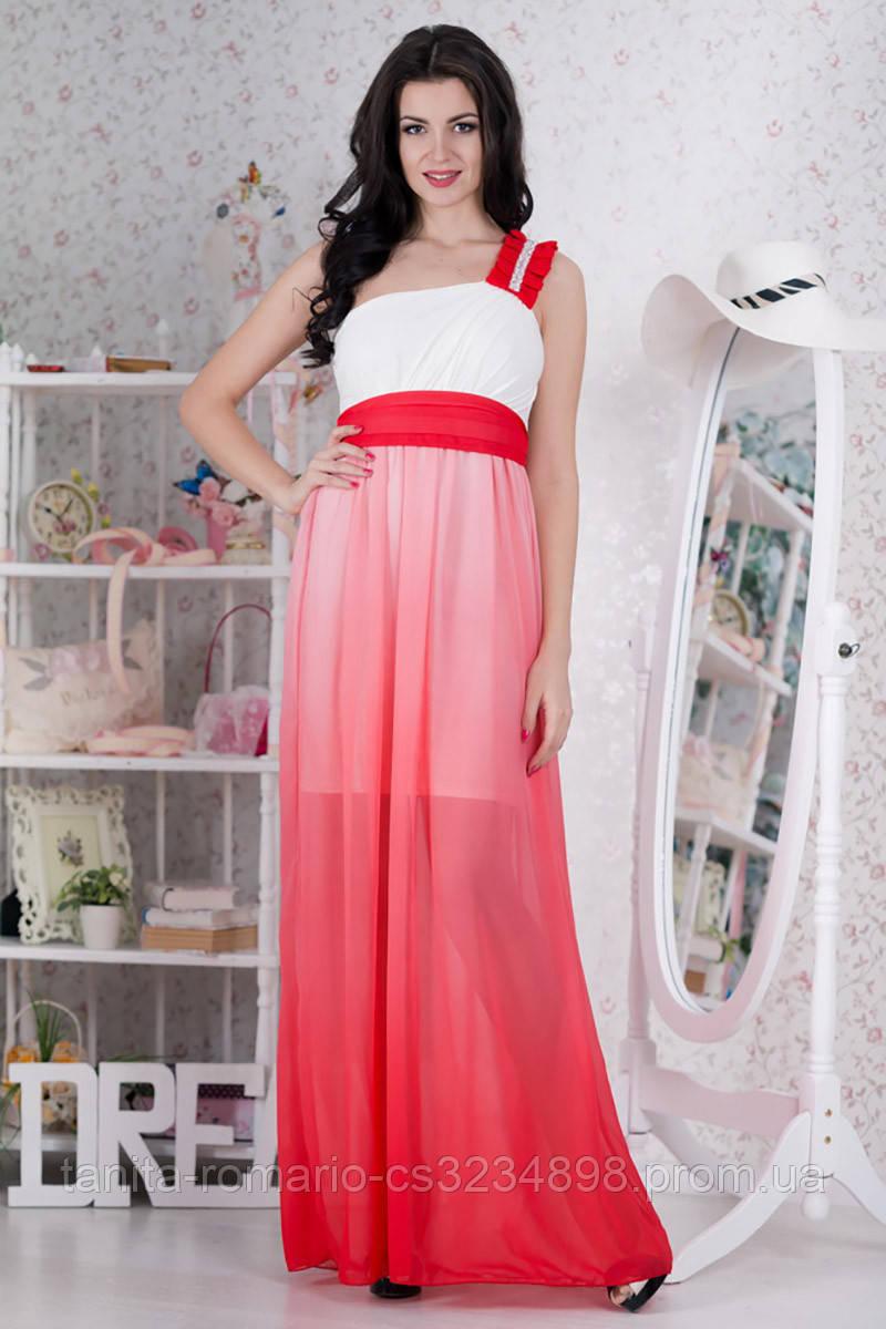 Вечернее платье 5048e Коралловый L(р)