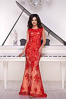 Вечернее платье 9039e Красный S(р)