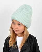 """Детская шапка """"Даша"""" мята, фото 1"""