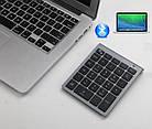 Клавиатура цифровая беспроводная bluetooth 28 клавиш. Bluetooth числовая клавиатура на батарейках, фото 2