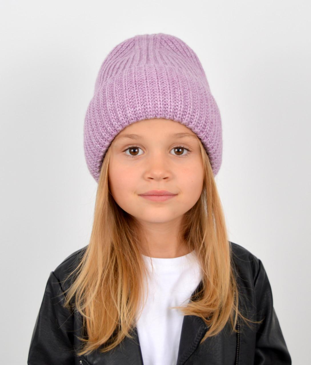 """Детская шапка """"Даша"""" сирень"""