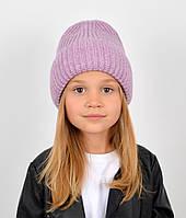 "Детская шапка ""Даша"" сирень, фото 1"