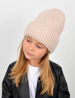 "Детская шапка ""Даша"" беж, фото 1"