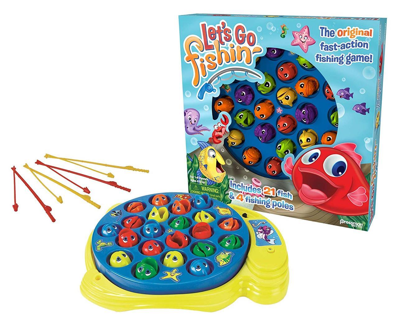 Игра Рыбалка настольная интерактивная семейная Let's Go Fishin'