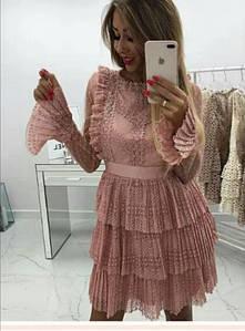 Платье нарядное ажурное