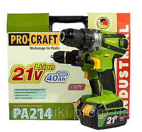 Шуруповерт аккумуляторный ProCraft РА-214 PRO, фото 2