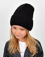 """Детская шапка """"Даша"""" черный, фото 1"""