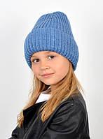 """Детская шапка """"Лола"""" джинс"""
