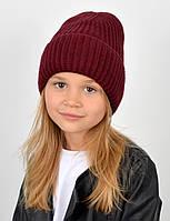 """Детская шапка """"Даша"""" марсала, фото 1"""
