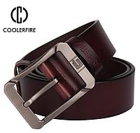 Кожаный мужской ремень Coolerfire HQ045 - Coffee