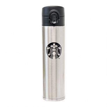 Термос 0,4 л Starbucks серебряный