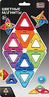 Магнитный конструктор треугольники 8 деталей Play Smart (PL)