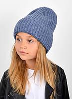"""Детская шапка """"Даша"""" джинс, фото 1"""