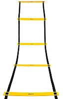 Тренировочная лестница координационная для бега SECO 8 ступеней 4 м желтого цвета, фото 1