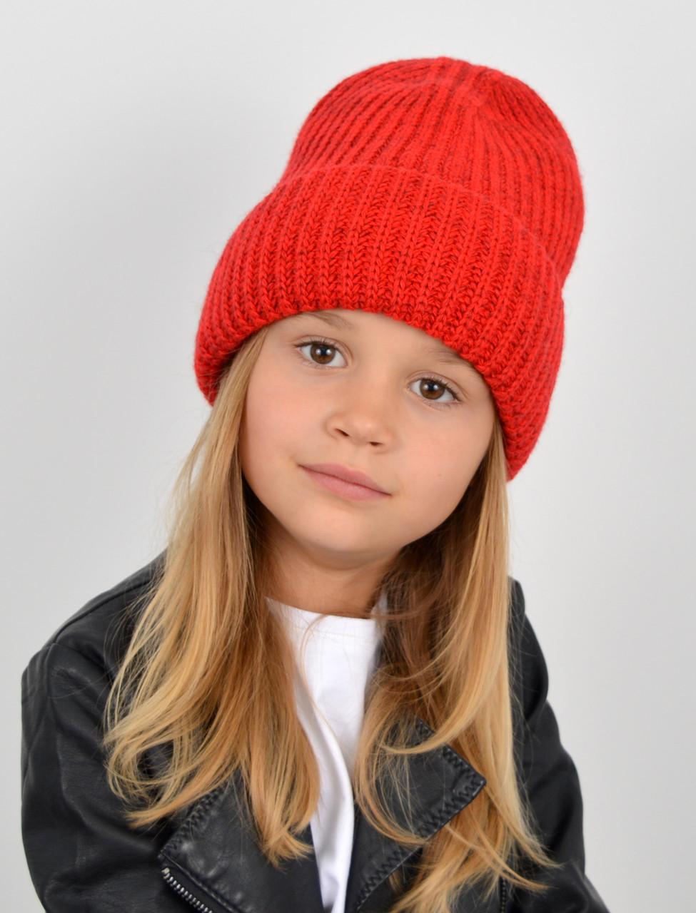"""Детская шапка """"Даша"""" красный"""