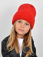 """Детская шапка """"Даша"""" красный, фото 1"""