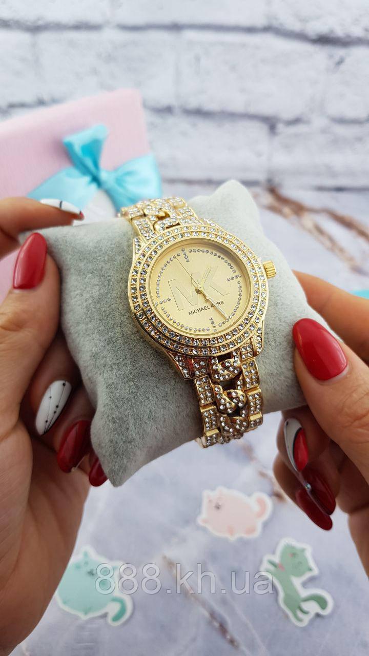 Женские наручные часы Michael Kors копия класса люкс, жіночі годинники Michael Kors (золото/золото)