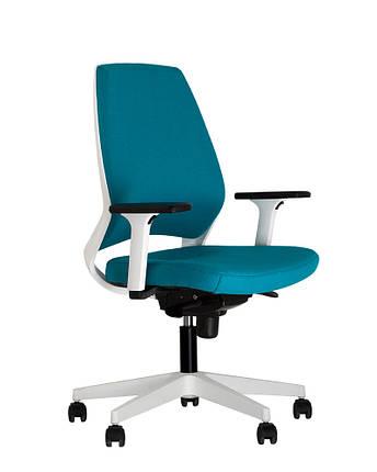 Кресло офисное 4U R 3D white механизм ES крестовина PL71, ткань CUZ-2U (Новый Стиль ТМ), фото 2