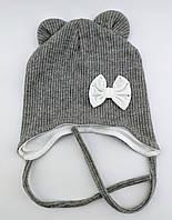 Оптом шапка детская 46 и 48 размер ангора ушками шапки головные уборы детские опт