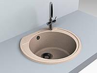 Кухонная мойка Tuluza 520*482*204 мм Miraggio Sand