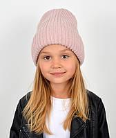 """Детская шапка """"Лола"""" пудра"""