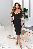 Черное платье с декольте  XS S M L XL, фото 1