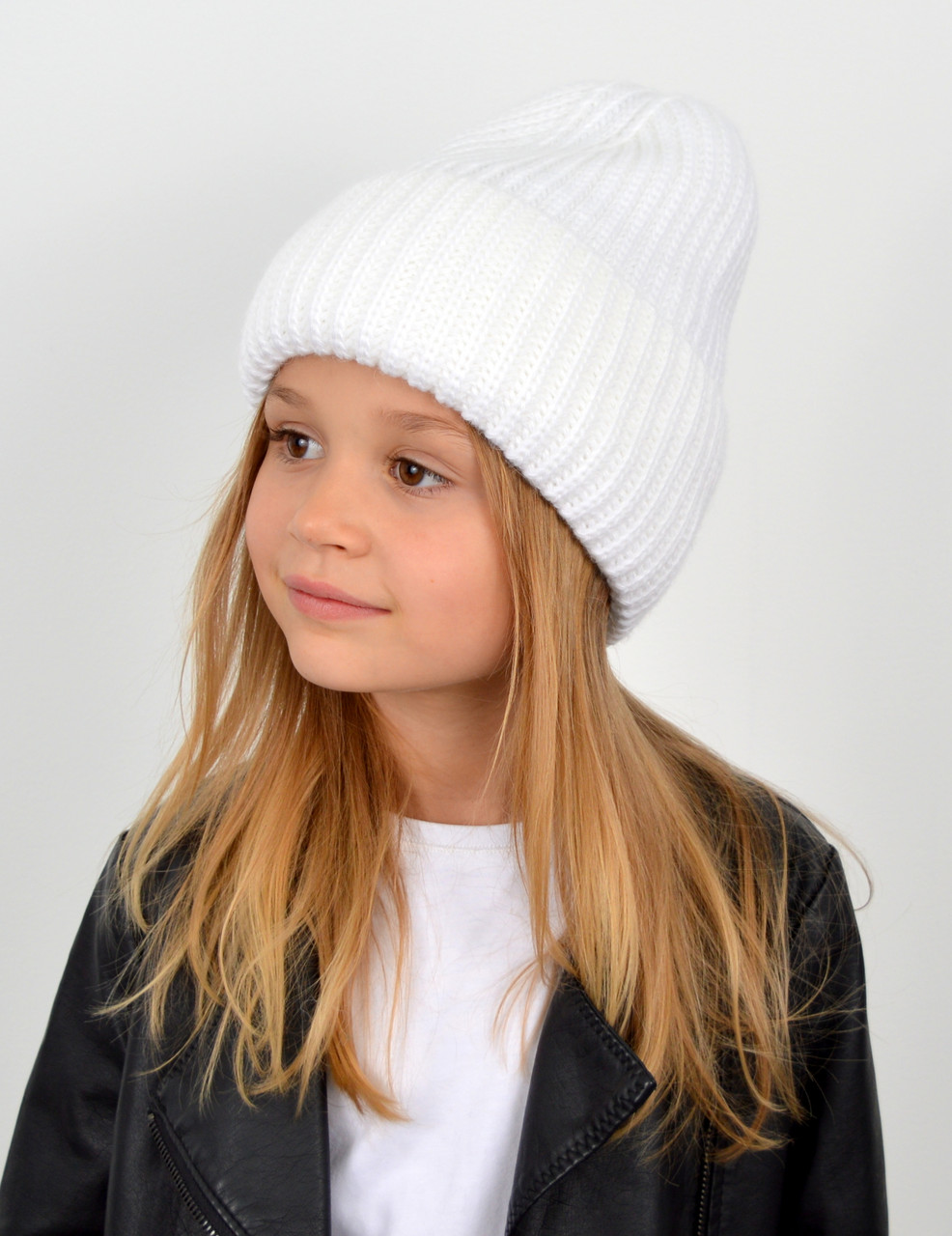 """Детская шапка """"Даша"""" белый"""