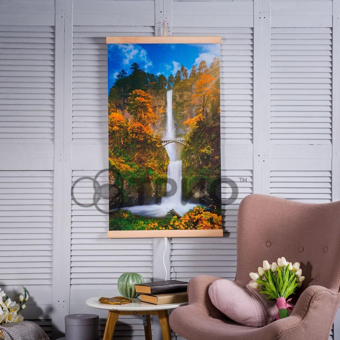 Настенный инфракрасный обогреватель Водопад с мостиком ТРИО