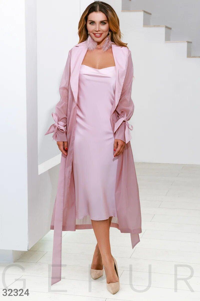 Шелковое платье в бельевом стиле  XS S M L XL