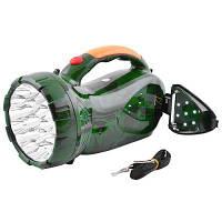 Переносной фонарь Yajia Светодиодный ЛЕД ручной акумуляторный YJ-2807 (22+7 LED)